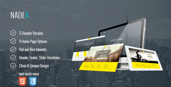 Nadea – Responsive Multi-Purpose HTML5 Template