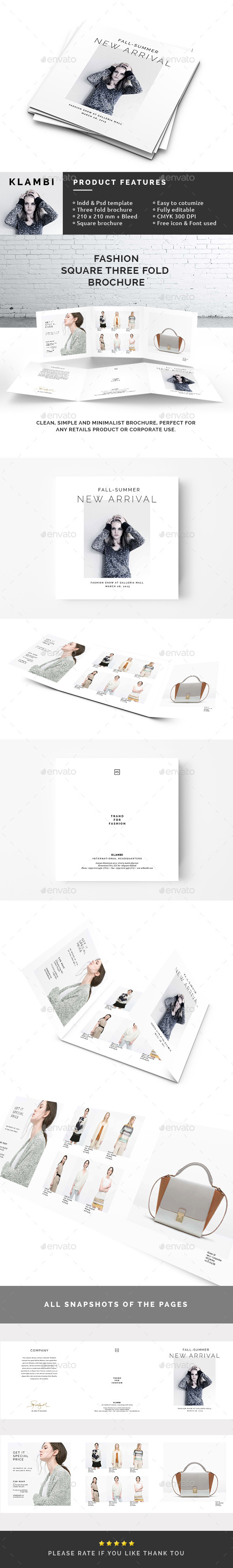 Square 3-Fold Fashion Brochure - Catalogs Brochures
