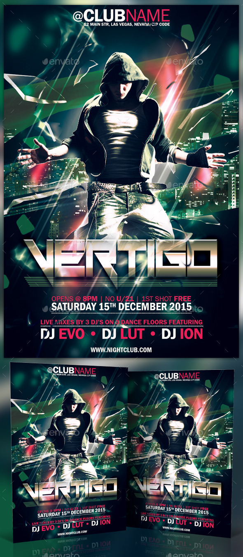 Vertigo Flyer Template - Clubs & Parties Events
