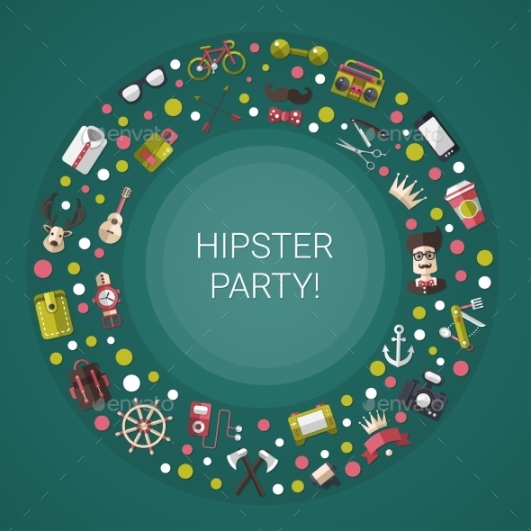 Hipster Icons  - Backgrounds Decorative