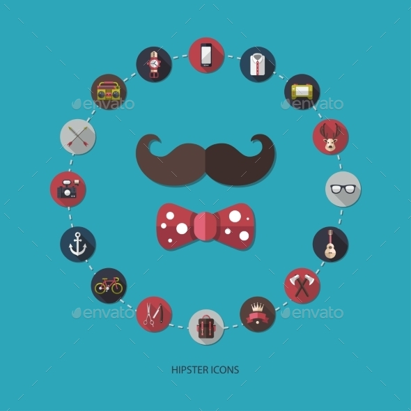 Hipster Icons  - Objects Vectors