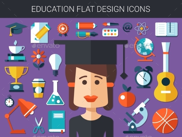 Education Icons  - Conceptual Vectors
