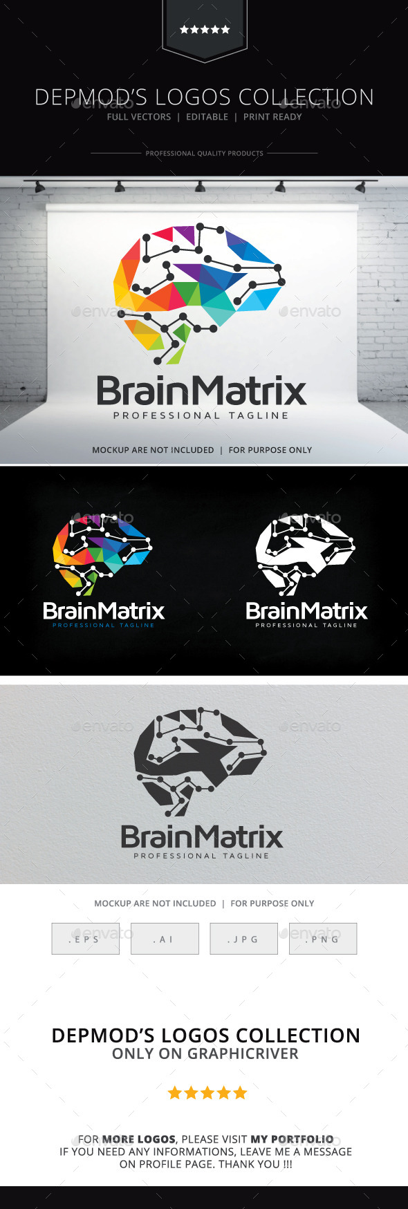 Brain Matrix Logo - Objects Logo Templates