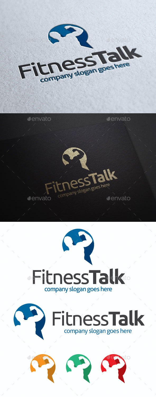 Fitness Talk Logo Template - Humans Logo Templates