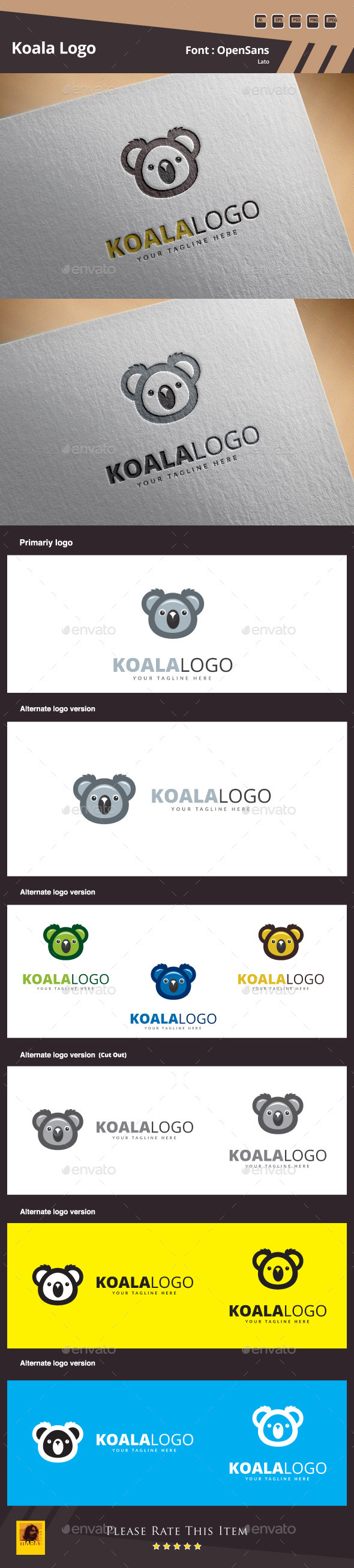 Koala Logo Template - Animals Logo Templates