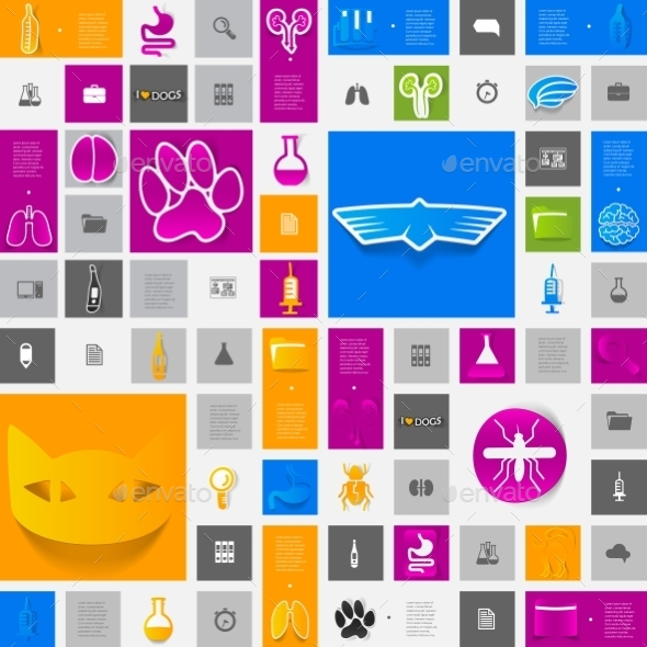 Veterinary Sticker Infographic - Health/Medicine Conceptual
