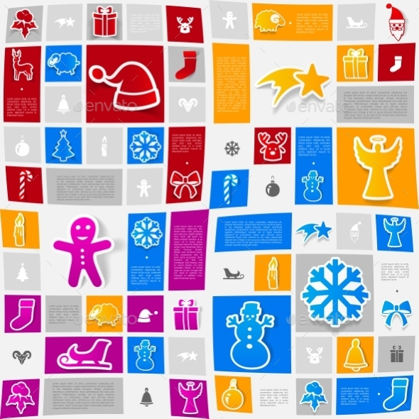 Christmas Sticker Infographic - Christmas Seasons/Holidays