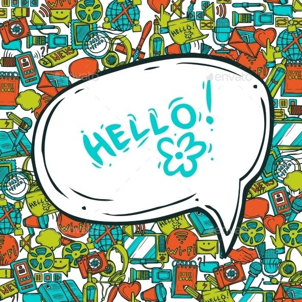 Communication Concept With Speech Bubble - Backgrounds Decorative