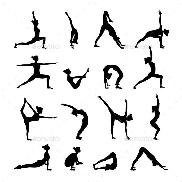 Yoga Set Black - People Characters