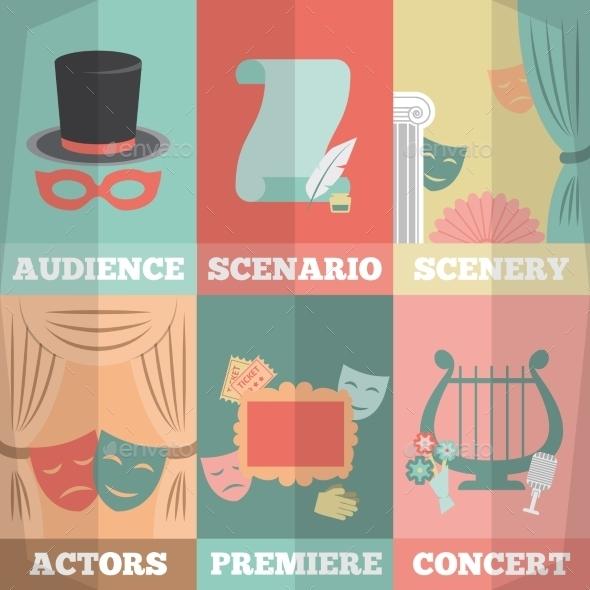 Theatre Poster Mini Set - Backgrounds Decorative