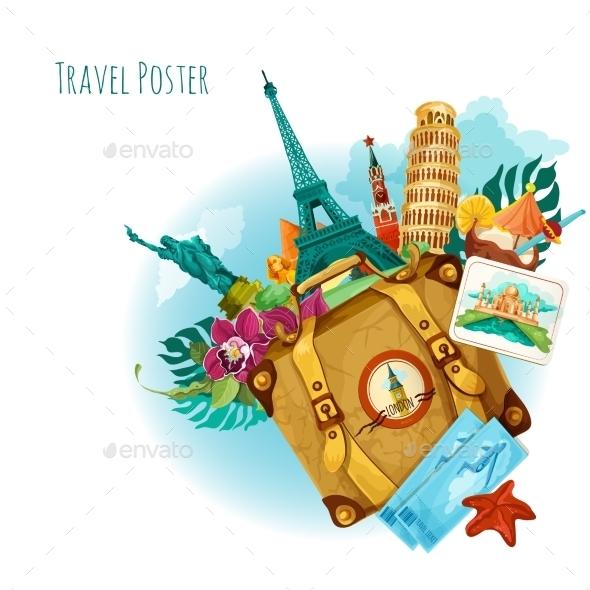 Landmarks Travel Background - Travel Conceptual