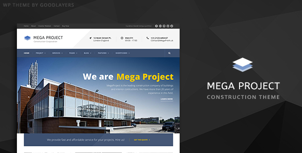 Construction WordPress Theme For Construction Company | Mega Project - Business Corporate