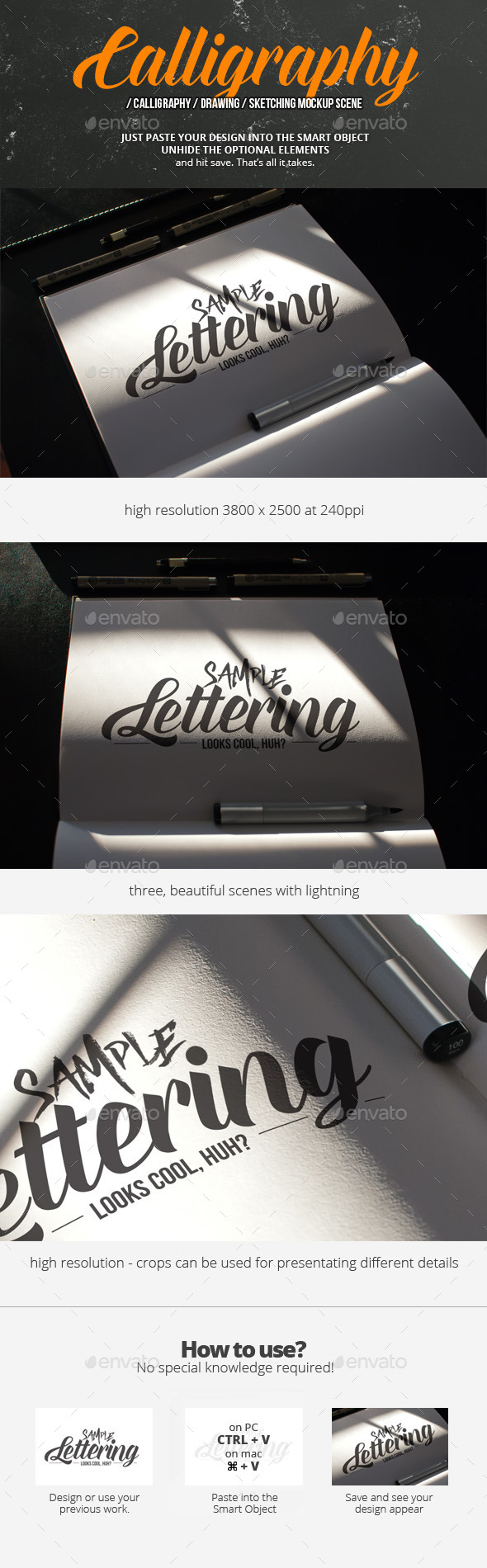 Calligraphy Mockup Scene - Miscellaneous Print