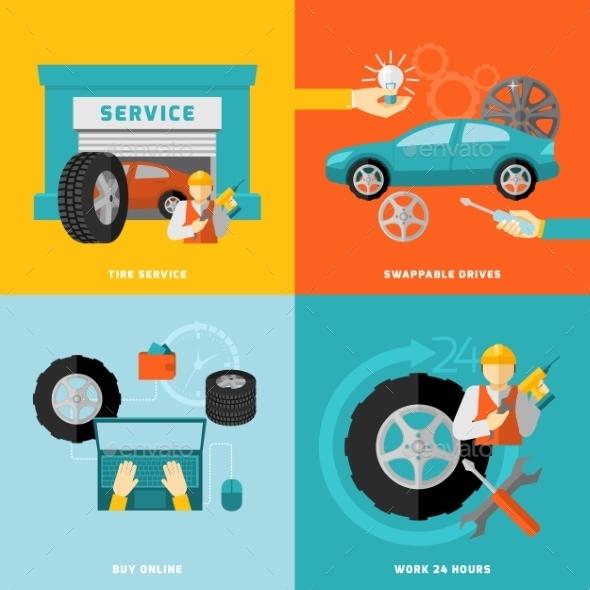 Tire Service Set - Technology Conceptual