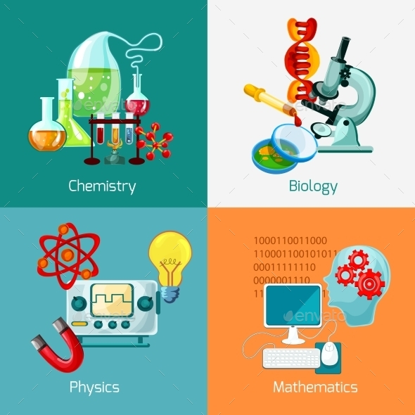 Science Icons Set - Decorative Vectors
