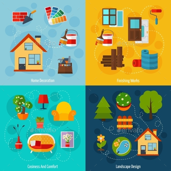 Interior Design Set - Decorative Vectors
