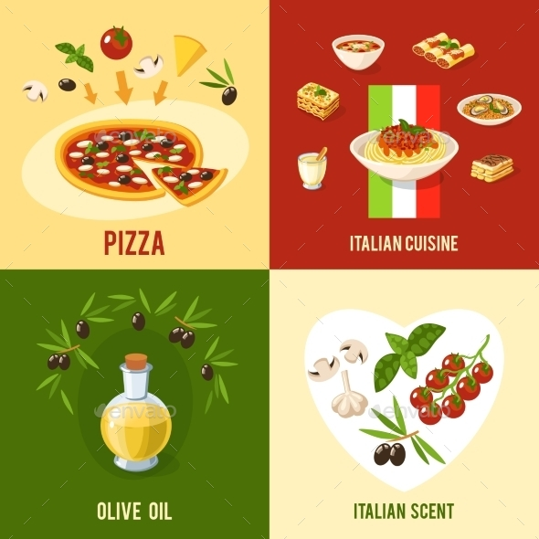 Italian Food Design Concept - Food Objects