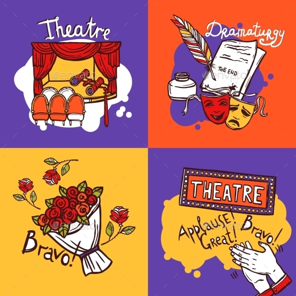 Theater Design Concept - Decorative Vectors