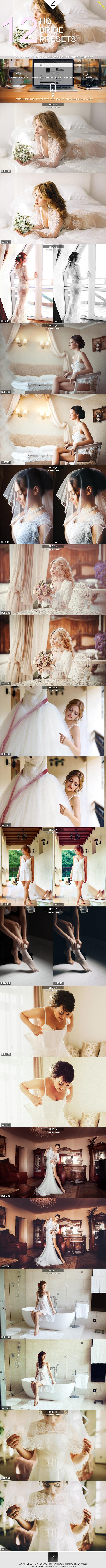 12 HQ Bride Presets - Wedding Lightroom Presets