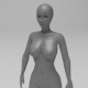 Female Base Mesh Low Poly
