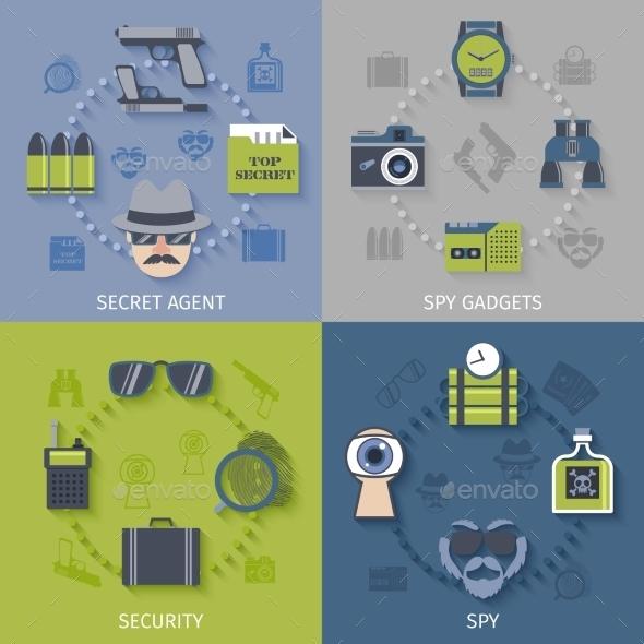 Spy Gadgets - Miscellaneous Vectors