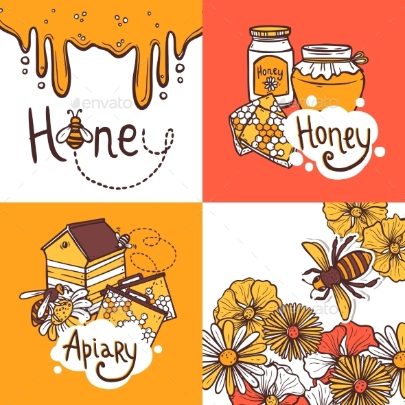 Honey Design Concept - Food Objects