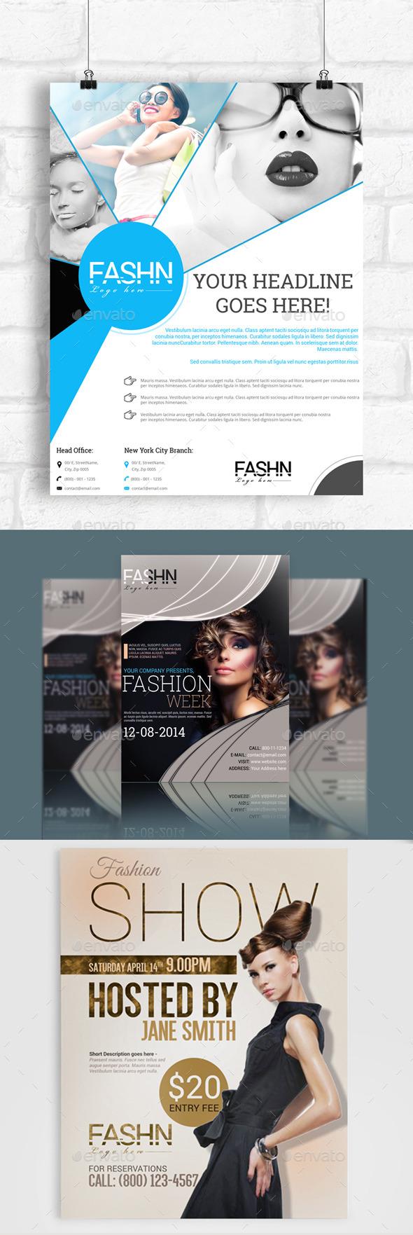 3x Fashion Flyers Bundle - Commerce Flyers