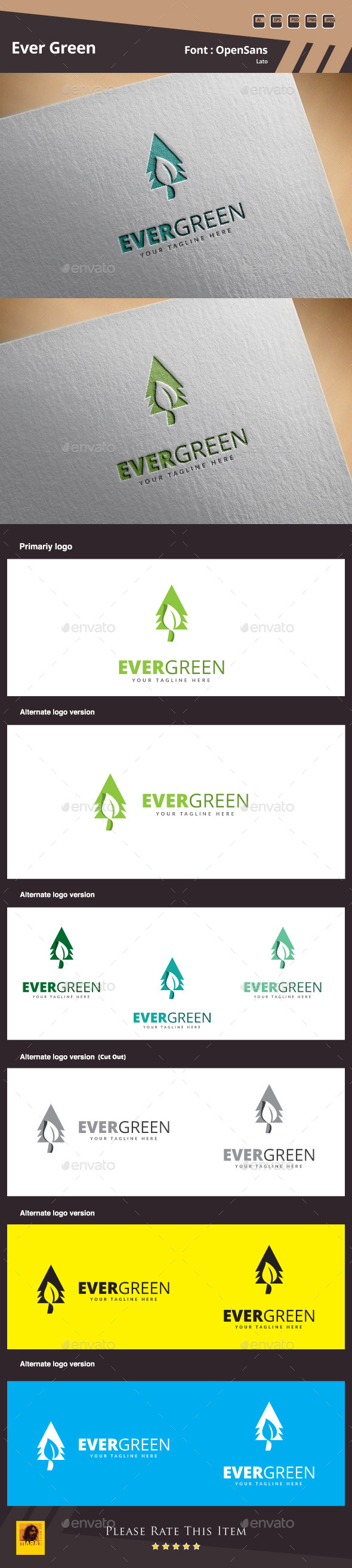 Evergreen Logo Template - Nature Logo Templates