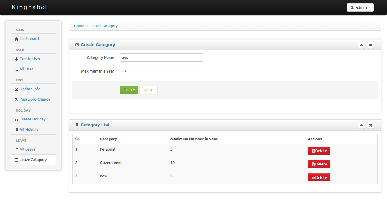 Timesheet Attendance Management System By Kingpabel Codecanyon