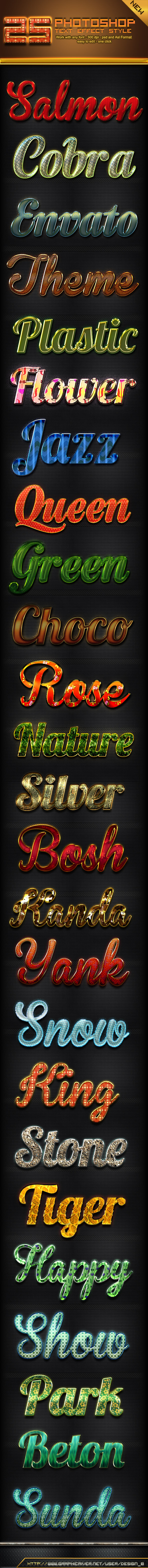 25 Photoshop Text Effect Styles - Text Effects Styles