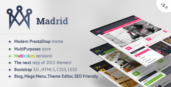 Madrid – Modern PrestaShop Theme with Customizer