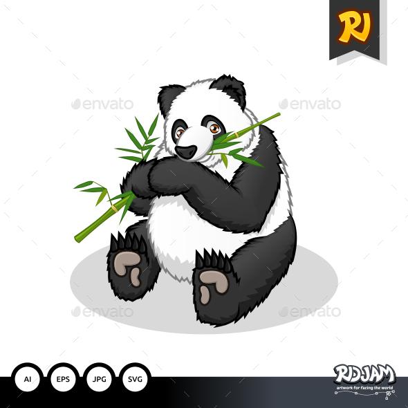 Giant Panda Cartoon - Animals Characters