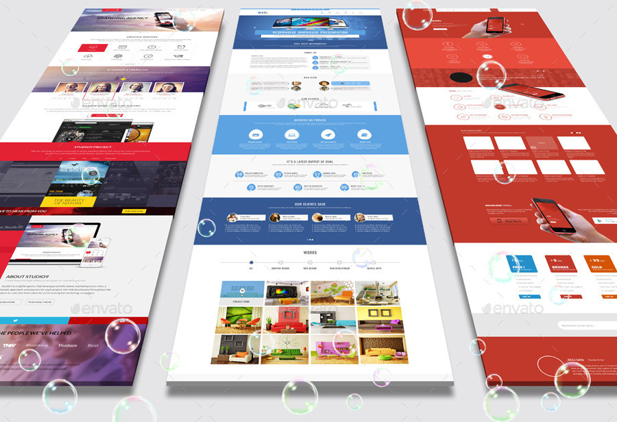 Landing Page Mock-Up by towhid123griver   GraphicRiver