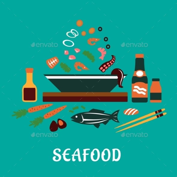 Seafood Dish  - Food Objects