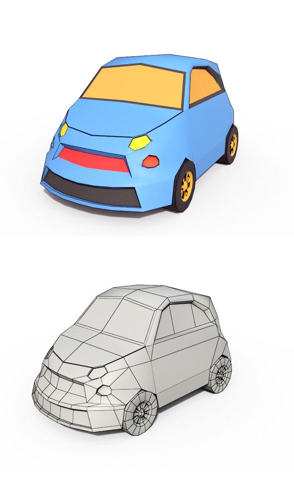 Low Poly Cartoon Car 3 - 3DOcean Item for Sale
