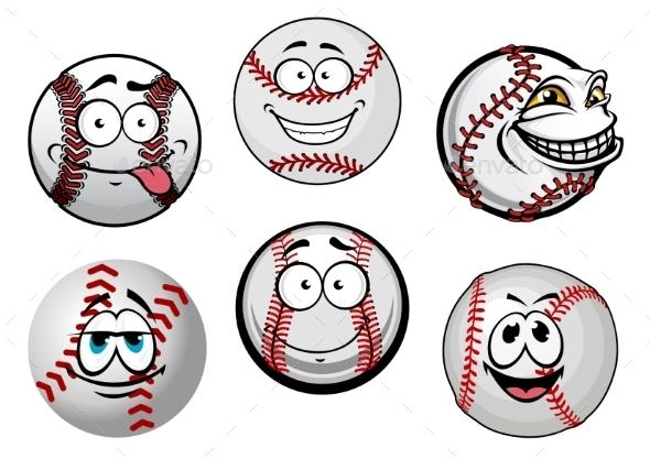 Baseball Balls  - Characters Vectors