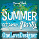 Summer Getaway Party Flyer - GraphicRiver Item for Sale