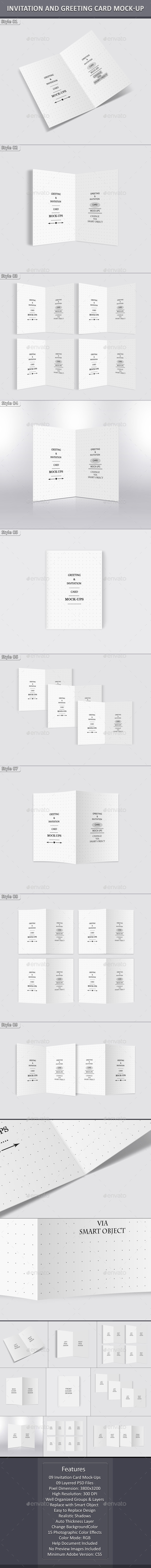 Invitation and Greeting Card Mockup - Miscellaneous Print