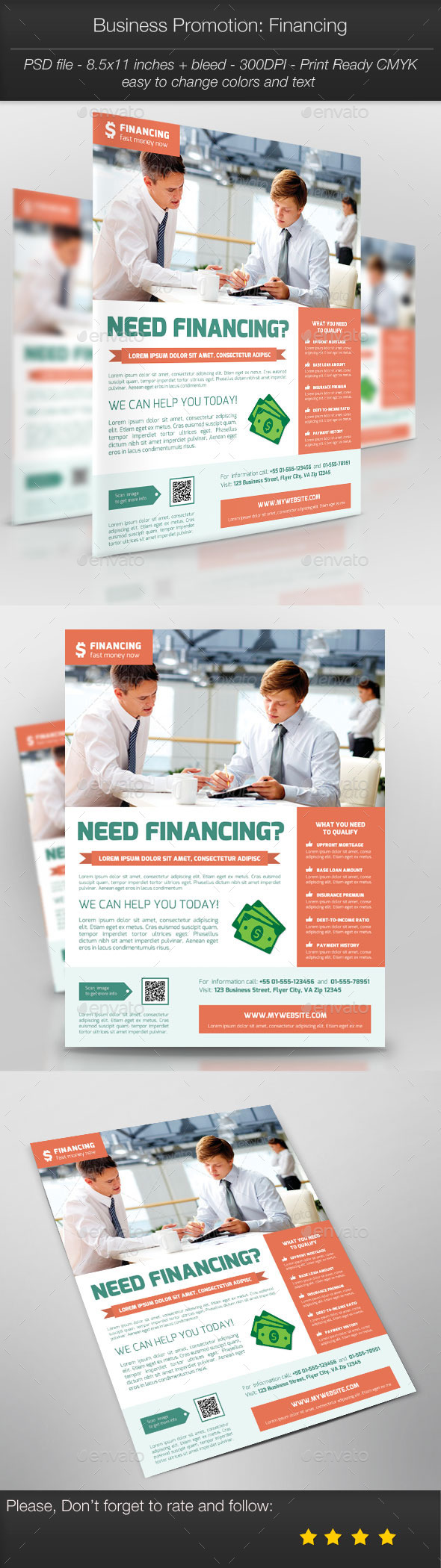 Business Promotion: Financing - Corporate Flyers