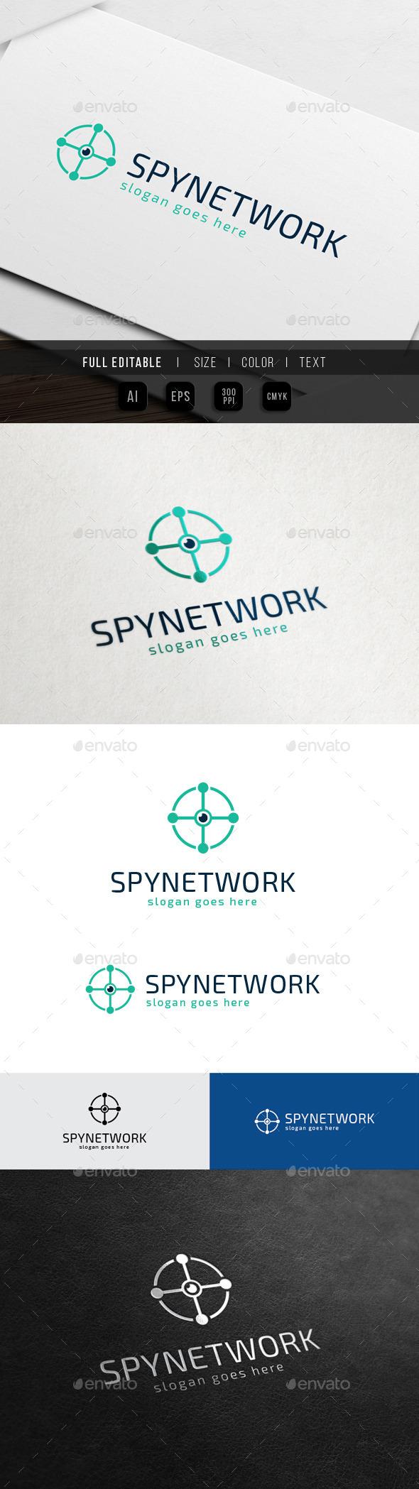 Circle Drone Camera - Spy Network - Objects Logo Templates