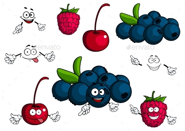 Berry Cartoons  - Food Objects