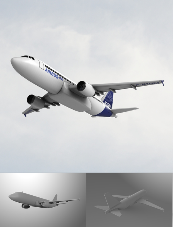 Airbus A320 - 3DOcean Item for Sale