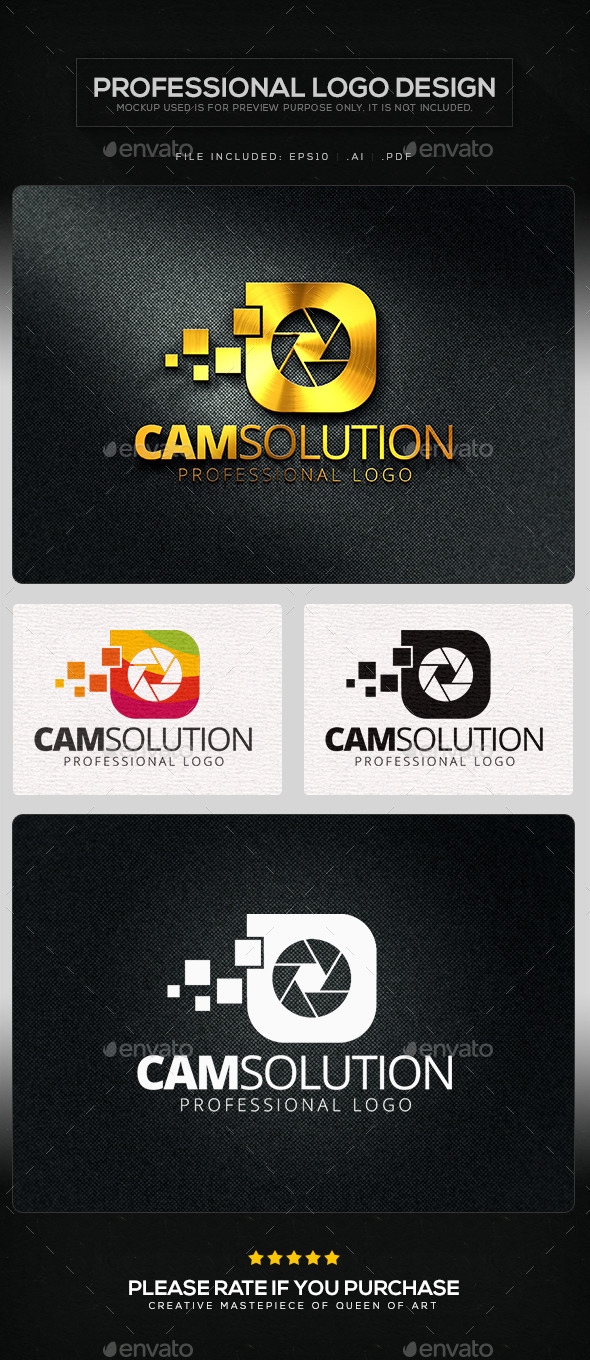 Cam Solution Logo Template - Objects Logo Templates