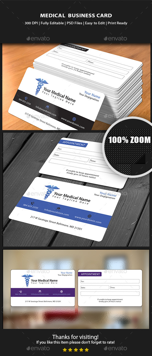 Medical Business card - Business Cards Print Templates