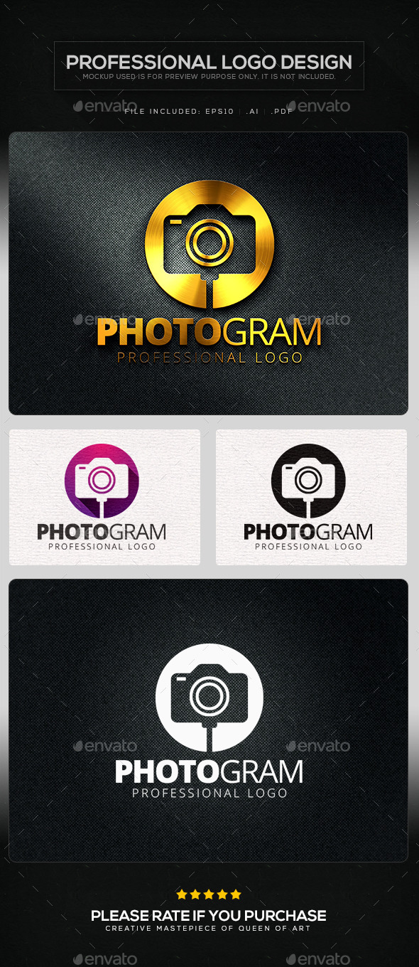Photogram Logo Template - Objects Logo Templates