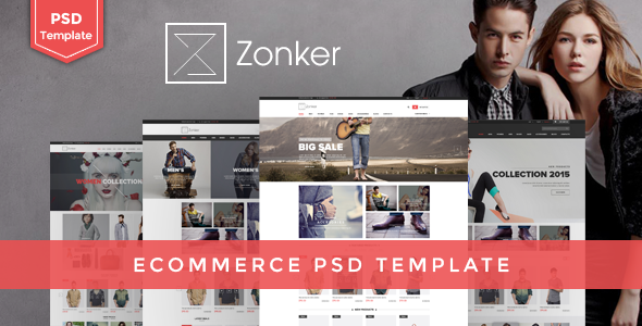 Zonker - Ecommerce PSD Template - Retail PSD Templates
