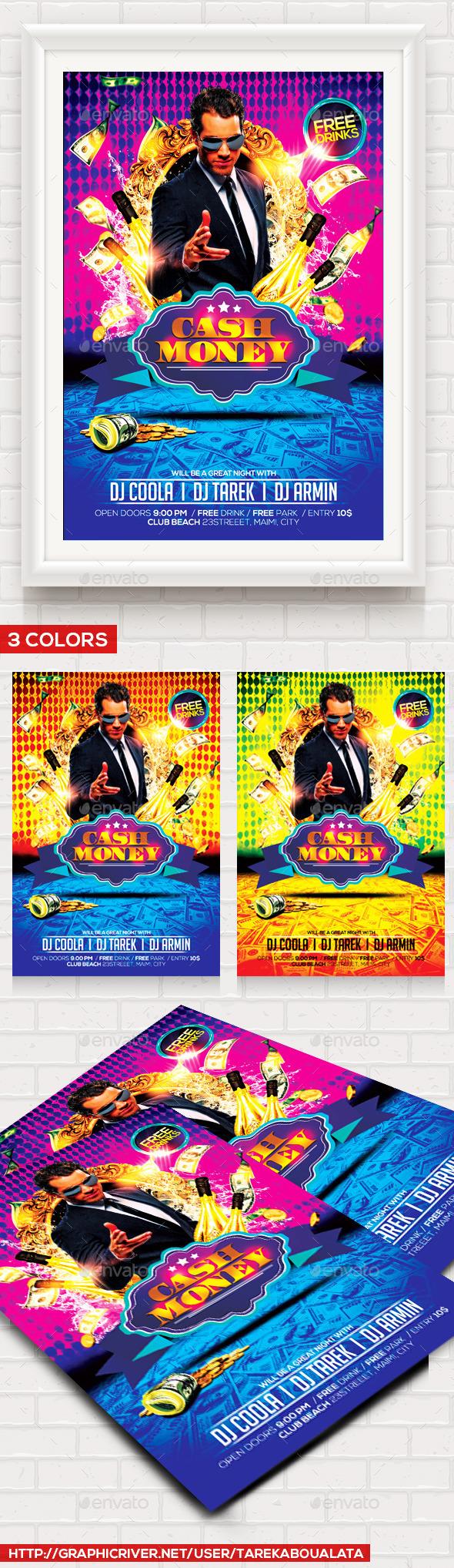 Cash Money Flyer Template V By TarekAboualata GraphicRiver - Money flyer template