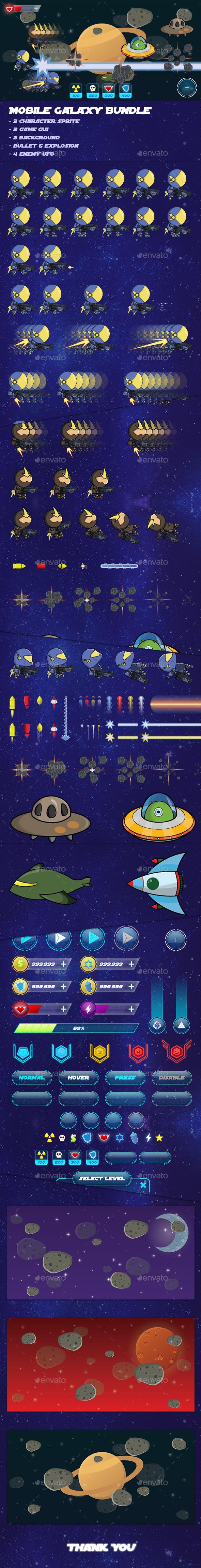Galaxy Bundle - Game Assets