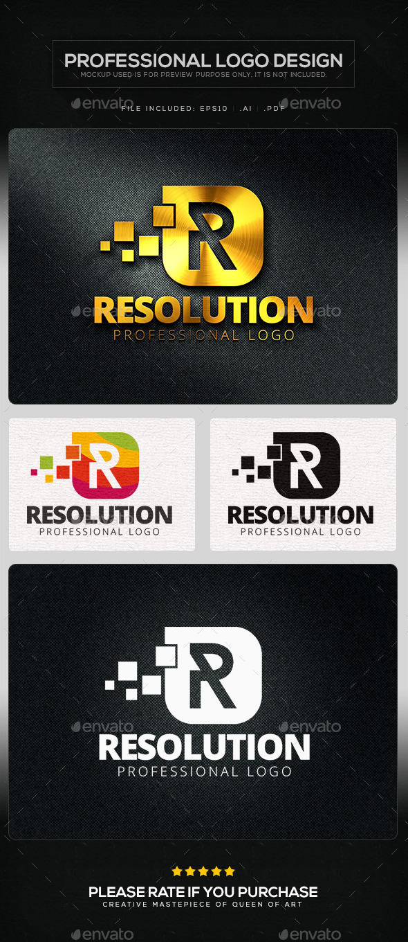 Resolution Logo Template - Letters Logo Templates
