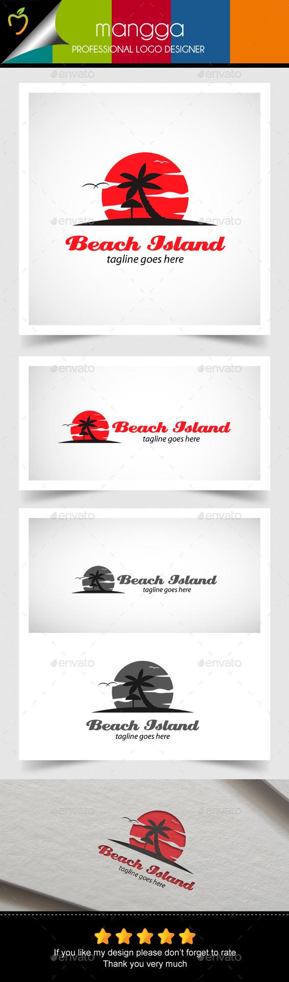 Beach Island Logo - Symbols Logo Templates